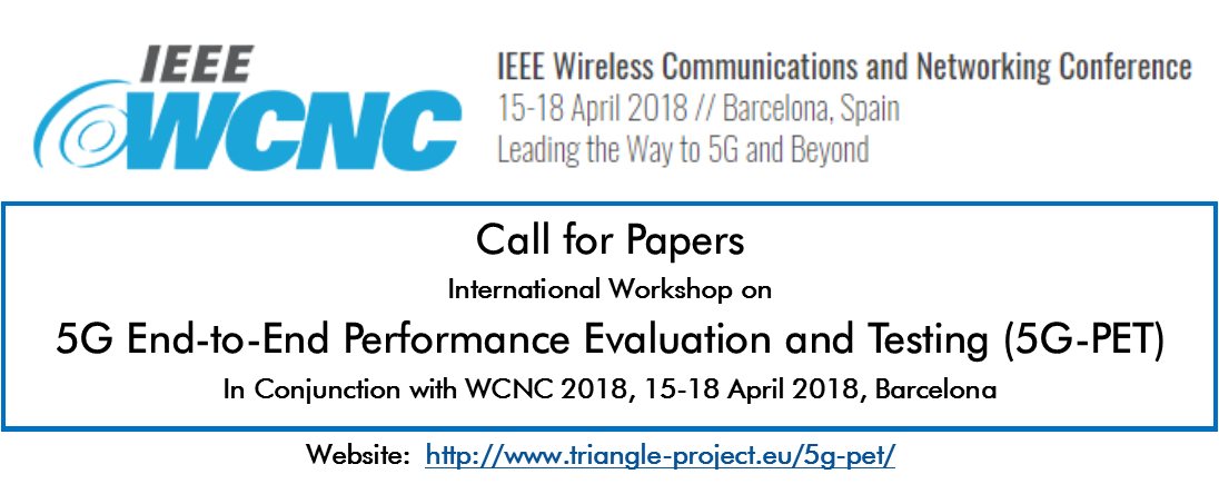 5G-PET Call for Papers